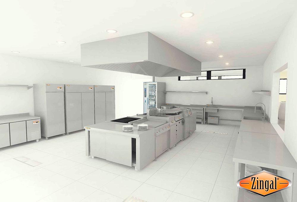 Área cocina caliente