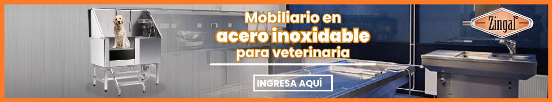 Mobiliario en acero inoxidable para veterinaria