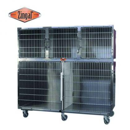 Jaula 5 espacios veterinaria