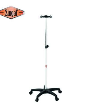 Soporte de sueros con ruedas 4 ganchos línea veterinaria